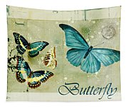 Blue Butterfly - S55c01 Tapestry