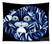 Blue Cat Green Eyes Tapestry