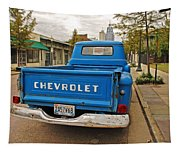 Blue Chevy Tailgate Tapestry