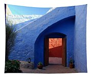 Blue Courtyard Tapestry