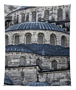 Blue Dawn Blue Mosque Tapestry