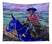 Blue Donkey Tapestry