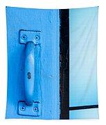 Blue Door Handle Tapestry