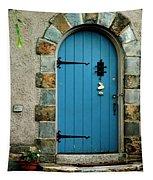 Blue Door In Baltimore Tapestry