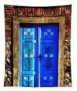 Blue Door Tapestry