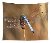 Blue Dragonfly Square Tapestry