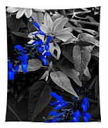 Blue Drippings Tapestry