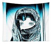 Blue Eye Lady Tapestry