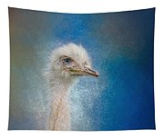 Blue Eyed Beauty - White Ostrich - Wildlife Tapestry