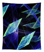 Blue Floating Diamonds Tapestry