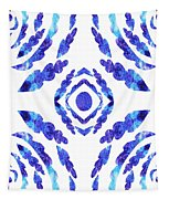 Blue Floral Pattern II Tapestry