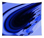 Blue Fractal Tapestry