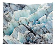 Blue Glacier Ice Background Texture Pattern Tapestry