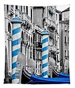 Blue Gondolas Tapestry