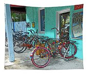 Blue Heaven Key West Bicycles Tapestry