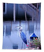 Blue Heron Reflections Tapestry