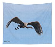 Blue Herons Last Fly By Tapestry