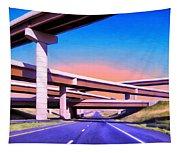 Blue Highway 7 Tapestry