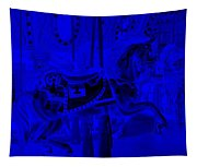 Blue Horse Tapestry