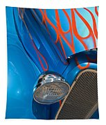 Blue Hot Rod Tapestry