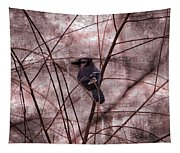 Blue Jay In The Willow Tapestry