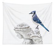 Blue Jay On An Angel Tapestry