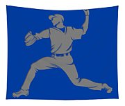 Blue Jays Shadow Player1 Tapestry