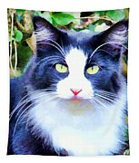 Blue Kitty Tapestry