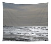 Blue Lighthouse View Tapestry