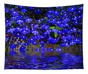 Blue Lobelia Tapestry
