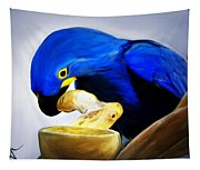 Blue Macaw Tapestry