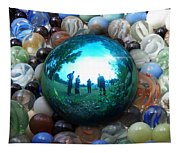 Magic Blue Marble Tapestry