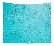 Blue Paint Background Grungy Cracked And Chipping Tapestry