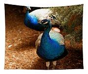 Blue Peacocks Tapestry