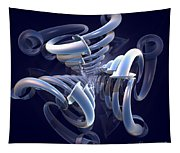 Blue Pipes Tapestry