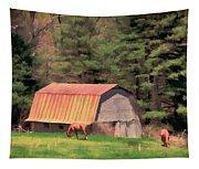Blue Ridge Horses Tapestry