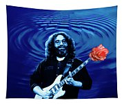 Blue Ripple From A Red Rose Tapestry