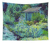 Blue Shed Tapestry