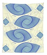 Blue Shells Tapestry