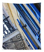Blue Shutters In New Orleans Tapestry