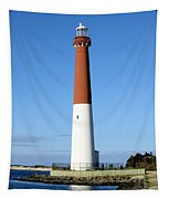 Blue Sky Blue Sea  And Barnegat Light Tapestry