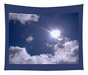 Blue Sky Clouds And Sunshine Tapestry
