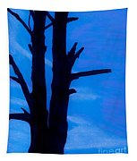 Blue Sky Tree Tapestry