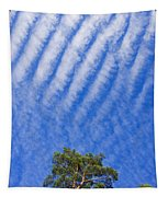 Blue Sky White Clouds Green Trees Tapestry