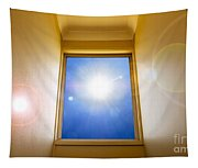 Blue Sky Window Tapestry
