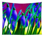 Blue Snowdrops Tapestry