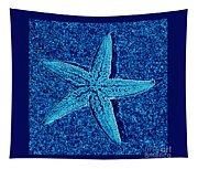 Blue Starfish - Digital Art Tapestry