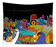 Blue Suede Shoes Posterized Tapestry