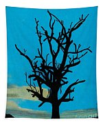 Blue Sunset Tapestry