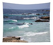 Blue Surf Tapestry
